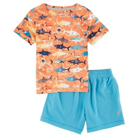 New! Reel Legends Baby Boys Freeline Sharky Short
