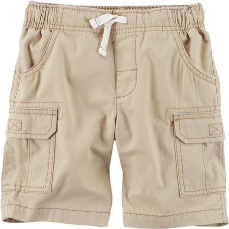Carters Baby Boys Faux Drawstring Cargo Shorts