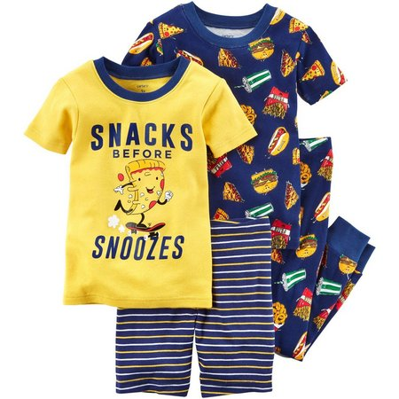 Carters Baby Boys 4-pc. Snacks Before Snoozes Pajama