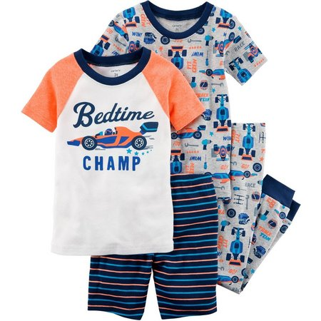 Carters Baby Boys 4-pc. Bedtime Champ Pajama Set