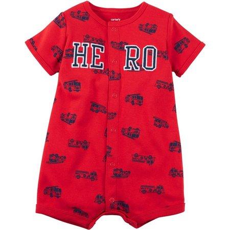 Carters Baby Boys Hero Snap-Up Romper