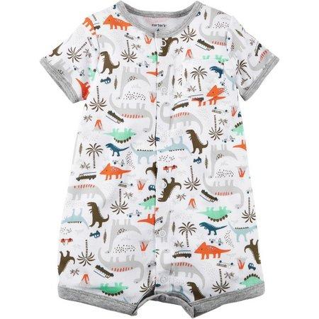 Carters Baby Boys Dinosaur Safari Snap-Up Romper