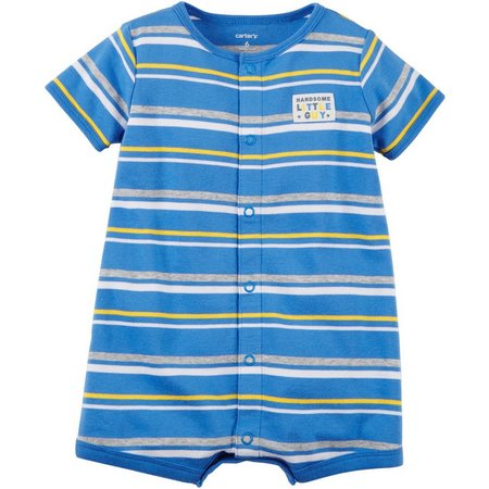 Carters Baby Boys Handsome Little Guy Romper