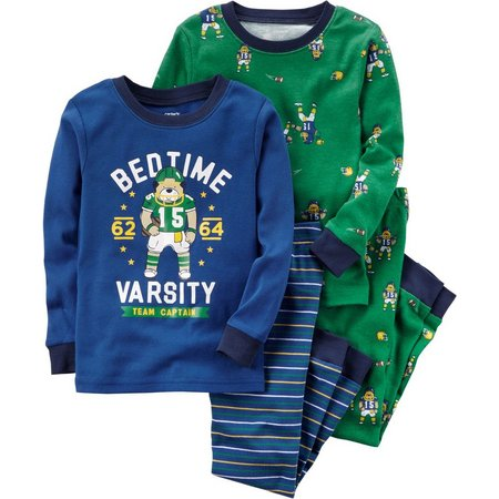 Carters Baby Boys 4-pc. Bedtime Team Pajama Set