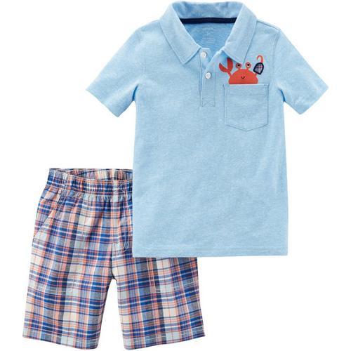 carters baby boys pirate crab polo shorts set bealls florida