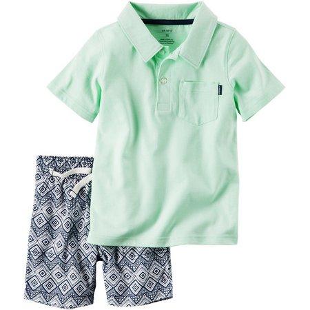 Carters Baby Boys Diamond Shorts Set