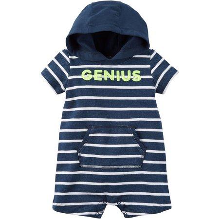 Carters Baby Boys Stripe Genius Romper