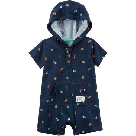 Carters Baby Boys Bug Catcher Hooded Romper