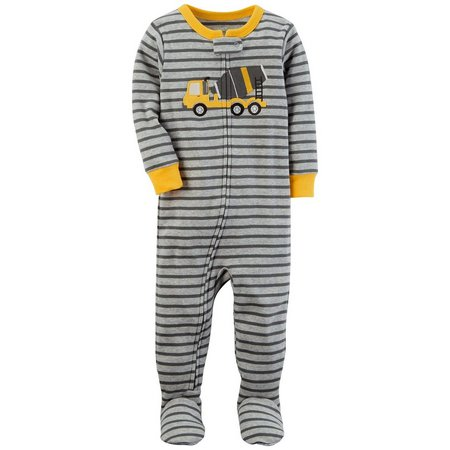 Carters Baby Boys Striped Construction Sleep & Play