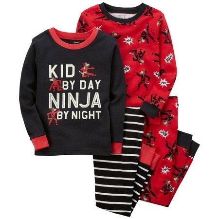 Carters Baby Boys 4-pc. Ninja By Night Pajama