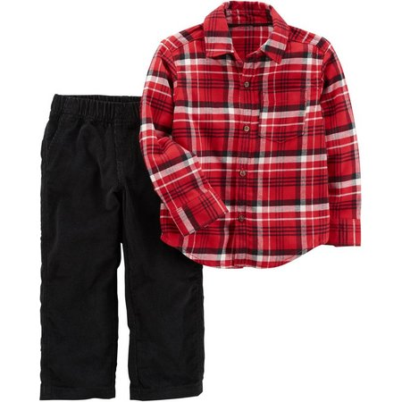 Carters Baby Boys Plaid Print Pants Set