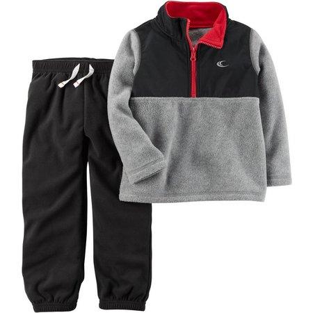Carters Baby Boys Fleece Pullover Jogger Pants Set