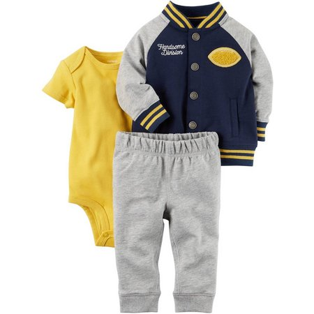 Carters Baby Boys 3-pc. Sports Jacket Layette Set