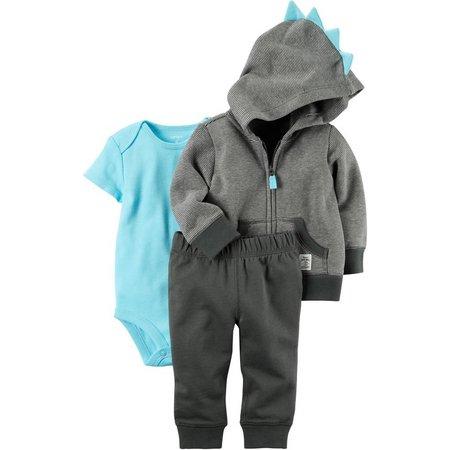 Carters Baby Boys 3-pc. Stripe Dino Jacket Layette