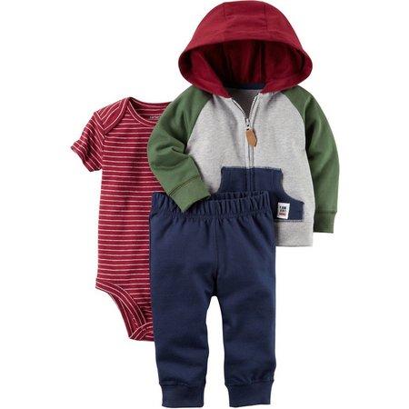 Carters Baby Boys 3-pc. Stripe Jacket Layette Set