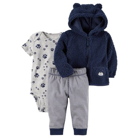 Carters Baby Boys 3-pc. Bear Paw Jacket Layette