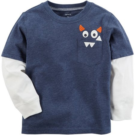 Carters Baby Boys Monster Pocket T-Shirt