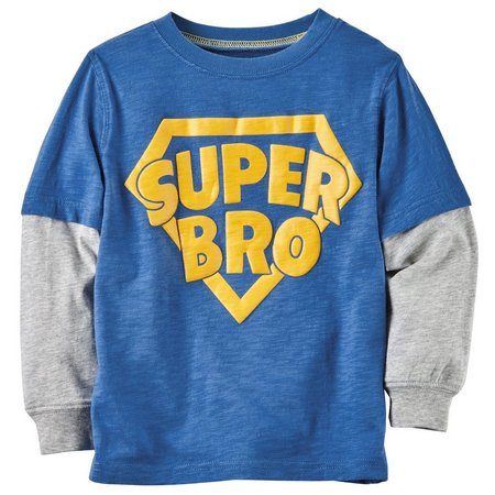 Carters Baby Boys Super Bro Layer-Look T-Shirt