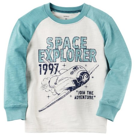 Carters Baby Boys Space Explorer Raglan T-Shirt