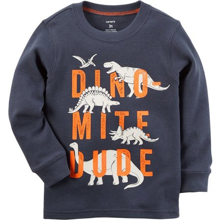 Carters Baby Boys Dino Mite Dude Thermal T-Shirt