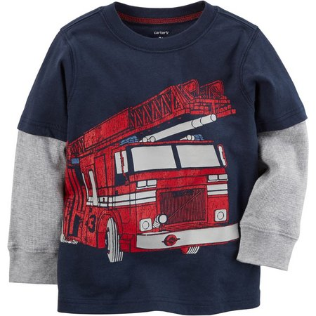 Carters Baby Boys Fire Truck Layered-Look T-Shirt