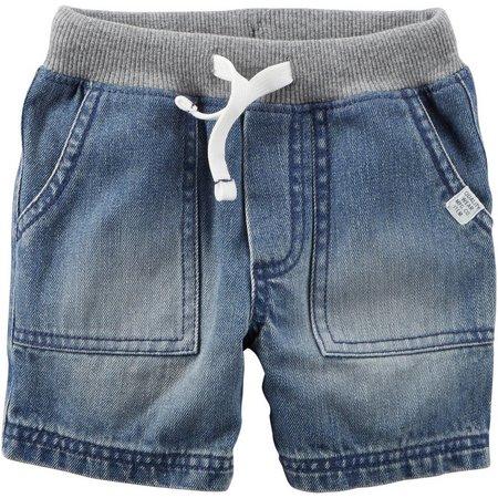 Carters Baby Boys Pull-On Denim Shorts