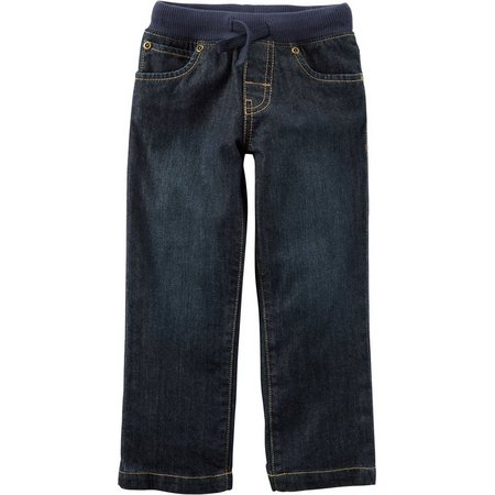 Carters Baby Boys Pull-On Drawstring Jeans
