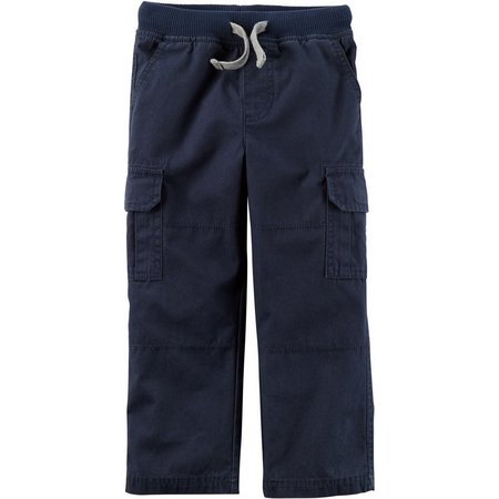 Carters Baby Boys Solid Pull-On Cargo Pants