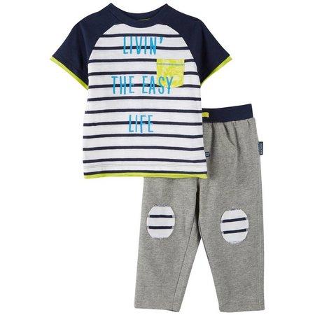 Cherokee Baby Boys Easy Life Pants Set