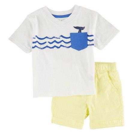 Nautica Toddler Boys Tail Pocket Shorts Set
