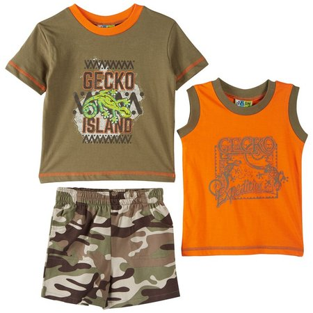 Al & Ray Baby Boys 3-pc. Gecko Shorts