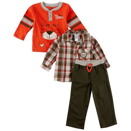 Nannette Baby Boys 3-pc. Easy Tiger Layette Set