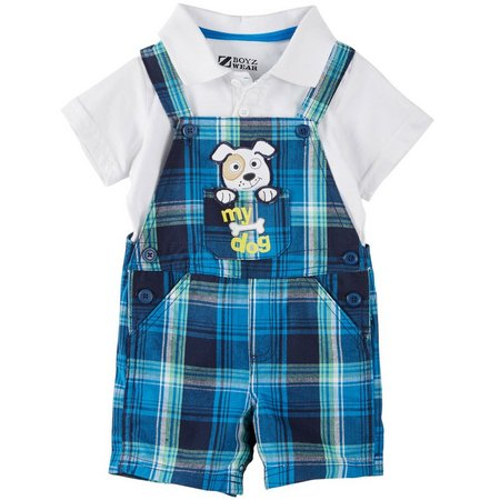 Boyz Wear Baby Boys My Dog Shortalls Set