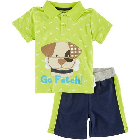 Boyz Wear Baby Boys Puppy Shorts Set