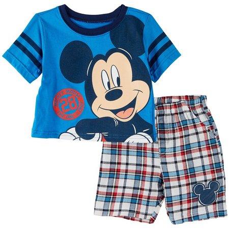 Disney Mickey Mouse Baby Boys Shorts Set