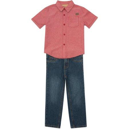 Lee Little Boys Button Down Top & Jeans