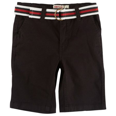 Smith's American Little Boys Belted Twill Shorts
