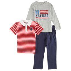 Tommy Hilfiger Little Boys 3-pc. Navy Pants Set