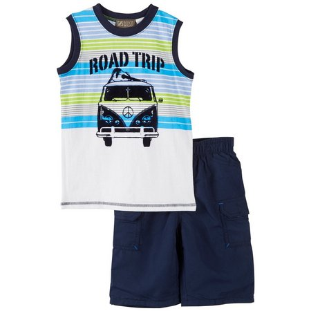 Boyz Wear Little Boys Road Trip Shorts Set