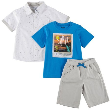 Little Rebels Little Boys 3-pc. Surf Shorts Set