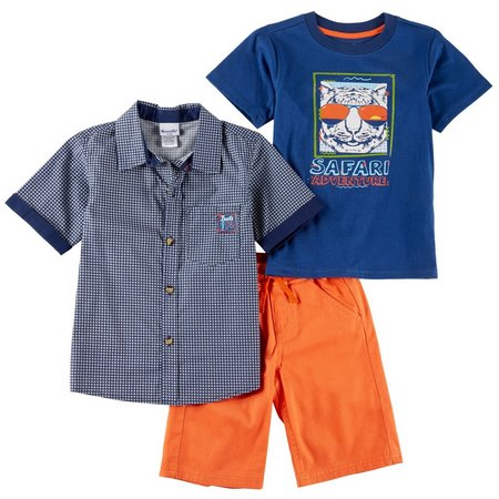 Little Rebels Little Boys 3-pc. Safari Adventure Short