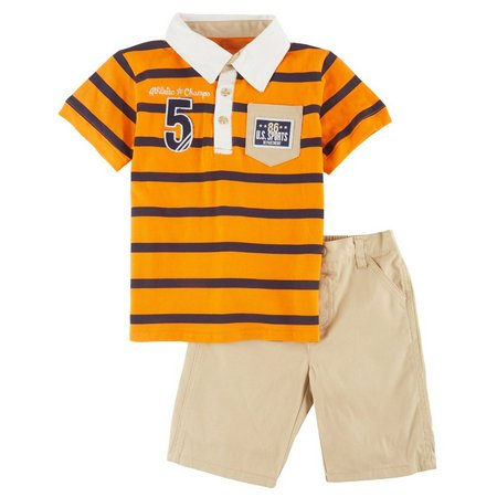Boyz Wear Little Boys Champs Shorts Set