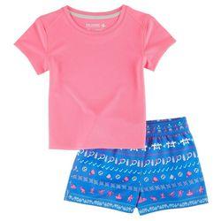 Reel Legends Toddler Girls Active Shorts Set