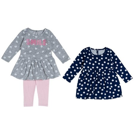 Cutie Pie Baby Toddler Girls 3-pc. Smile Layette