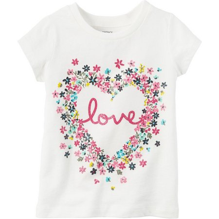 Carters Toddler Girls Floral Love T-Shirt