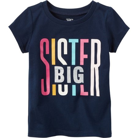 Carters Toddler Girls Big Sister Graphic T-Shirt