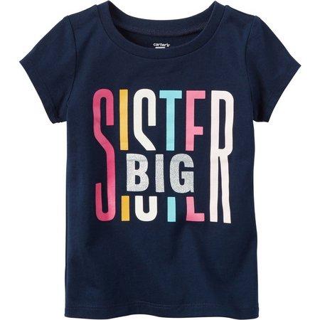 Carters Toddler Girls Big Sister Graphic T-Shirt