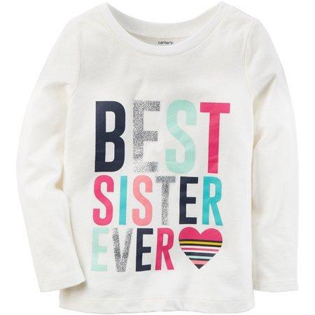 Carters Toddler Girls Best Sister Ever T-Shirt