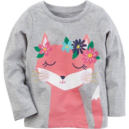 Carters Toddler Girls Fox T-Shirt