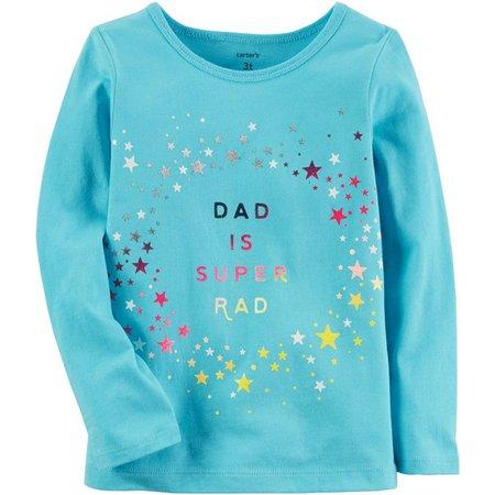Carters Toddler Girls Dad Is Super Rad T-Shirt